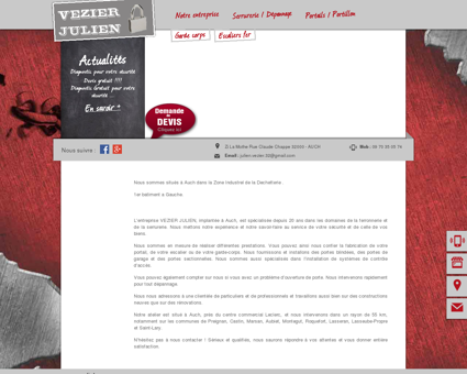 Artisan ferronier, serrurier - Auch | VEZIER JULIEN