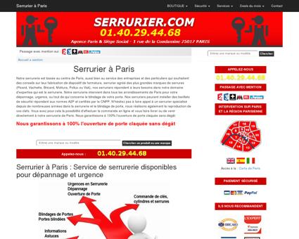 Serrurerie à Paris : Pour vos depannages et...