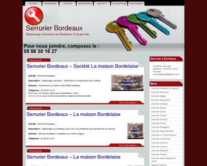 Serrurier Bordeaux PAS CHER: 05 56 30 16 27 ...