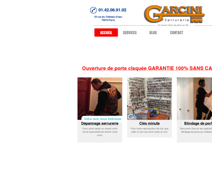 Serrurerie Garcini | Serrurier à Paris 10