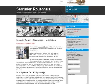 Serrurier Rouen : Dépannage/Installation 02...