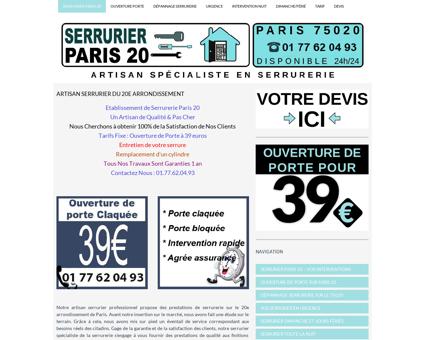 Arthur Fréval Artisan Serrurier Paris 20 dès 39...