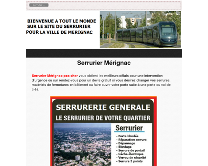 Serrurier Merignac du quartier: 05 56 30 16 27...