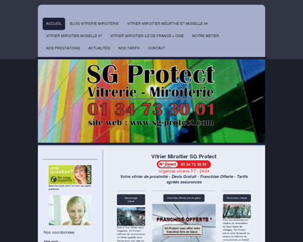 SG Protect Vitrerie - 01 34 73 30 01 - Votre...