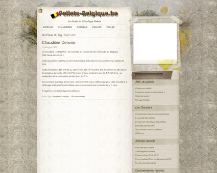 Pellets Belgique » fabricant