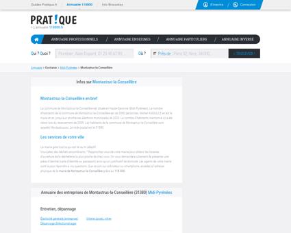 Entreprise Montastruc-la-Conseillère 31380,...