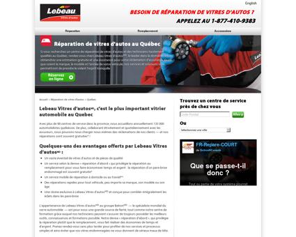 Réparation de vitres d'autos au Québec  ...