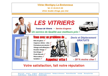 vitrier Montigny-Le-Bretonneux, tel:...
