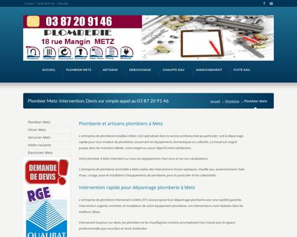 plombier Metz entreprise plomberie 75 rue aux...