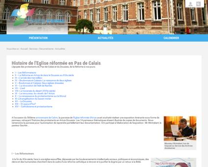 Histoire de l'Eglise réformée Pas/Calais -...