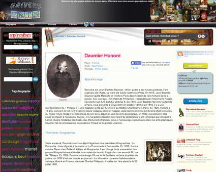 Daumier Honoré, principales oeuvres de...