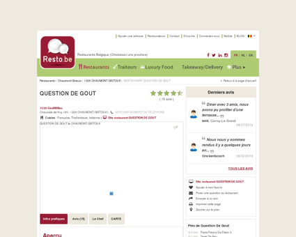QUESTION DE GOUT - Restaurant Français -...