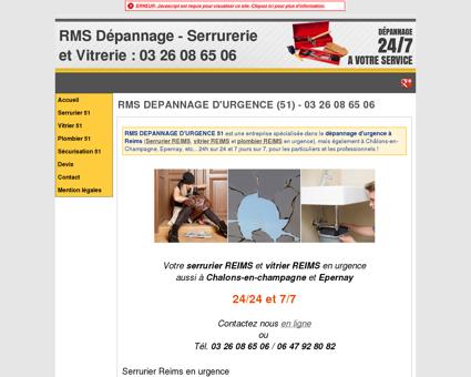 RMS DEPANNAGE D'URGENCE (51) - 03 26 08...