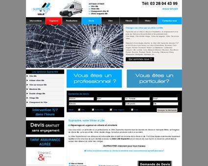 Vitrier Lille : Supravitre, Travaux de vitrerie à...