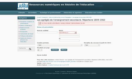 ?q=agregsecondaire laureats&nom=&annee o Alain