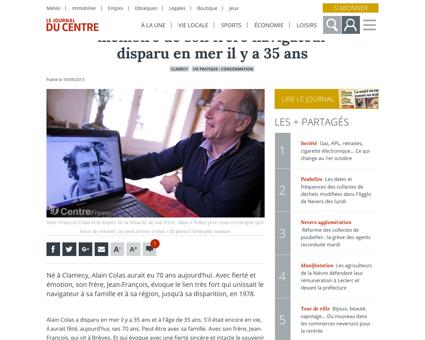 Jean francois colas evoque la memoire de Alain