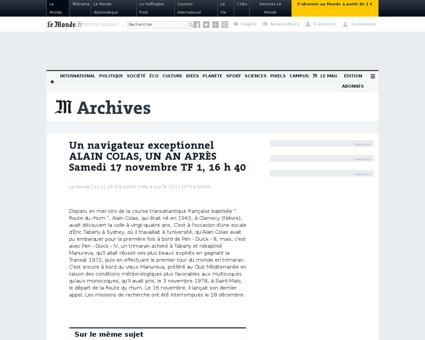Un navigateur exceptionnel alain colas u Alain