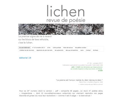 Lichen poesie.blogspot.fr Alain