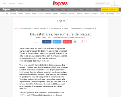 Devastatrices les rumeurs de plagiat 807 Alain