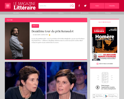 magazine litteraire.com Alain