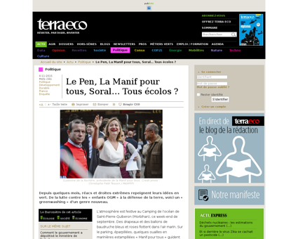Le Pen La Manif pour tous Soral,62403 Alain