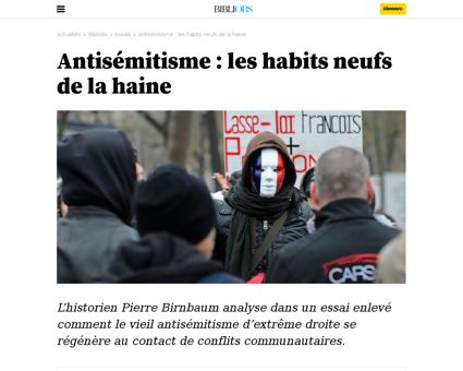 Antisemitisme les habits neufs de la hai Alain