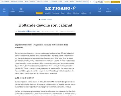 01002 20120516ARTFIG00401 hollande devoi Alain