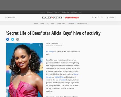 2008 10 12 secret life of bees star alic Alicia