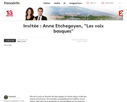 Invitee anne etchegoyen les voix basques Anne