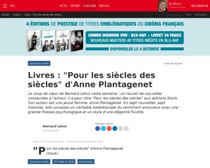 Livres pour les siecles des siecles d an Anne