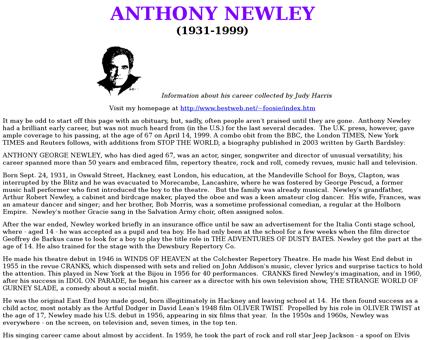 Newley Anthony
