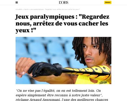Jeux paralympiques regardez nous arretez Arnaud