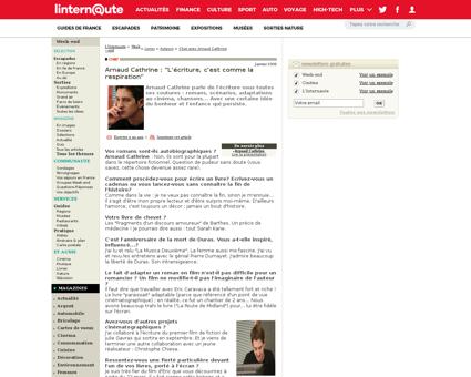 Arnaud cathrine retranscription.shtml Arnaud