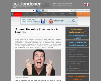 Arnaud ducruet j me rends a londres Arnaud