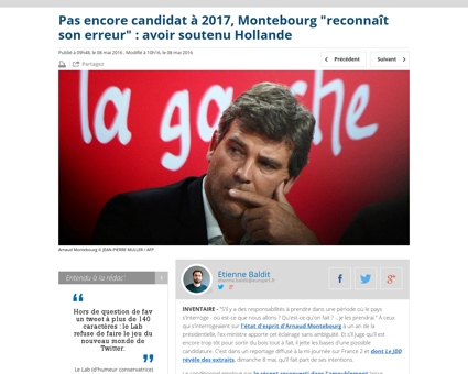 Pas encore candidat a 2017 montebourg re Arnaud