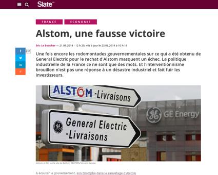 Alstom fausse victoire  Arnaud