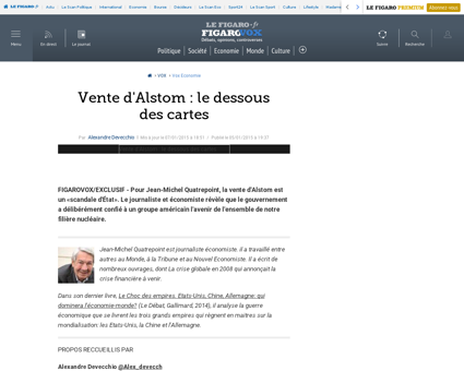 31007 20150105ARTFIG00339 vente d alstom Arnaud