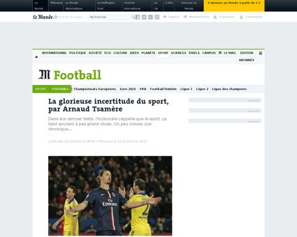 La glorieuse incertitude du sport par ar Arnaud