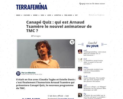 37518 canape quiz qui est arnaud tsamere Arnaud