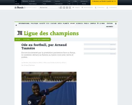 Ode au football par arnaud tsamere 45023 Arnaud