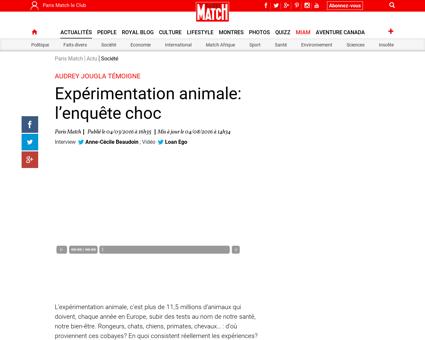 Experimentation animale l enquete choc 9 Audrey