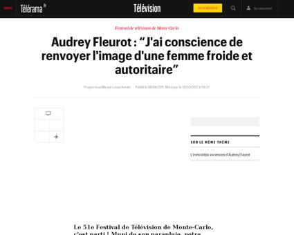 Audrey fleurot portrait triptyque Audrey