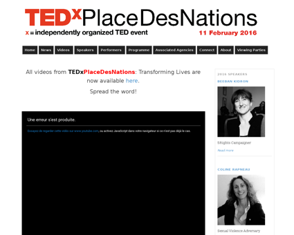 Tedxplacedesnations.ch Audrey