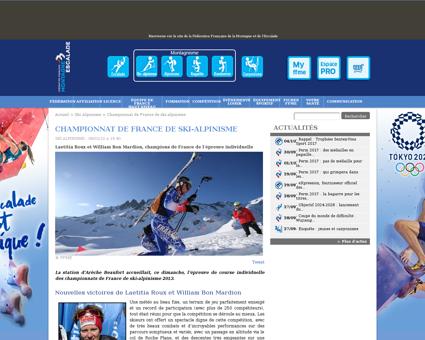 Championnat de france de ski alpinisme Axelle