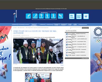 1ere etape de la coupe du monde de ski a Axelle