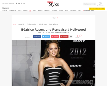 Beatrice rosen une francaise a hollywood Beatrice