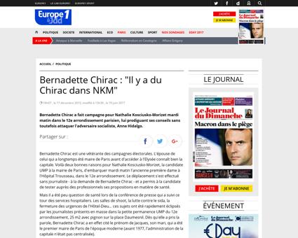 Bernadette Chirac Il y a du Chirac dans  Bernadette
