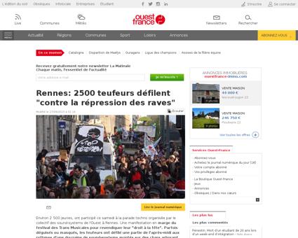ActuDet  Rennes 2500 teufeurs defilent c Bernadette