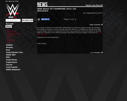 Les resultats de wwe night of champions  Bryan