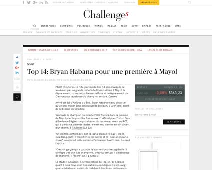 Top 14 bryan habana pour une premiere a  Bryan